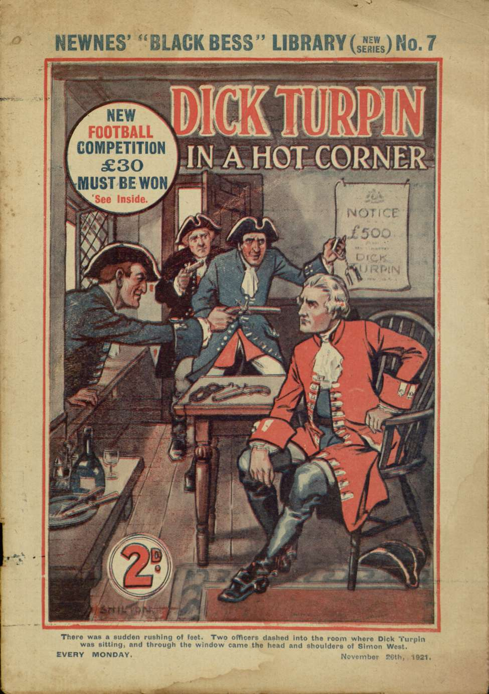 Comic Book Cover For Dick Turpin in a Hot Corner