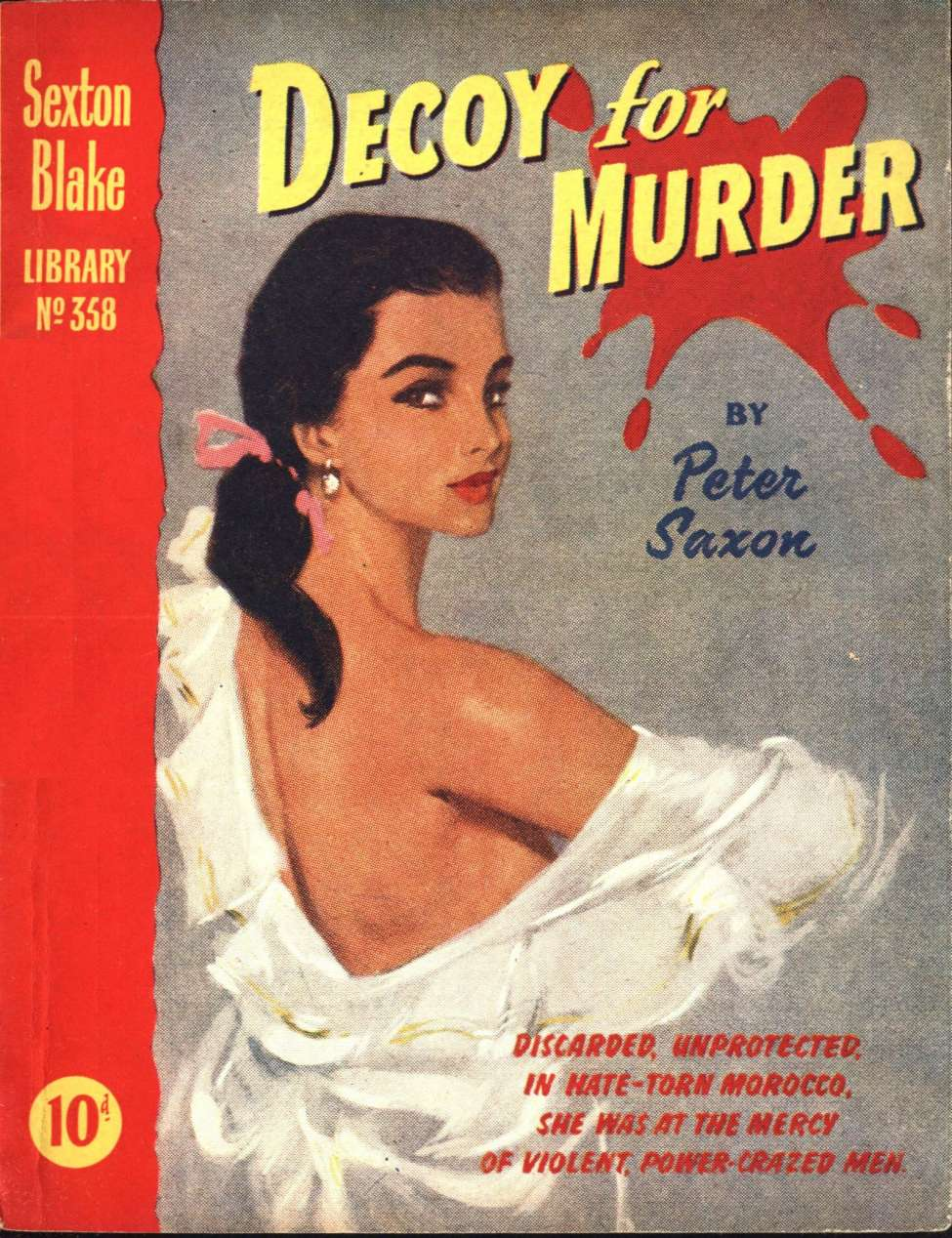 Comic Book Cover For Sexton Blake Library S3 358 - Decoy for Murder