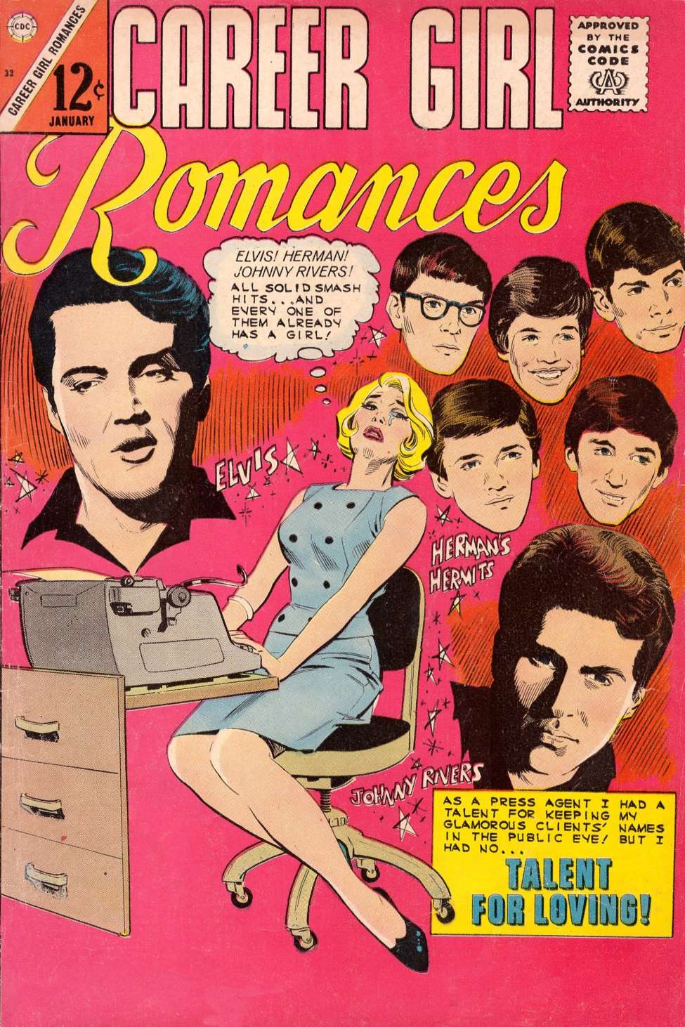 Comic Book Cover For Career Girl Romances #32