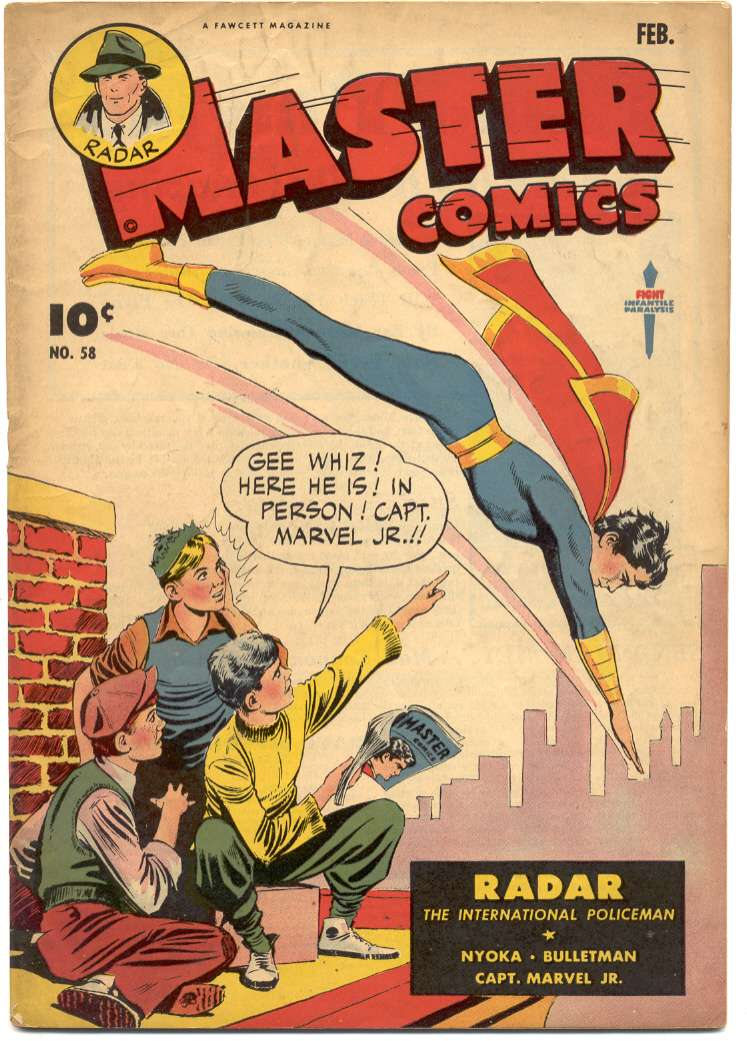 Comic Book Cover For Master Comics #58