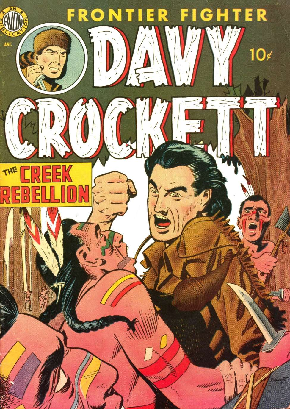Comic Book Cover For Davy Crockett [nn]