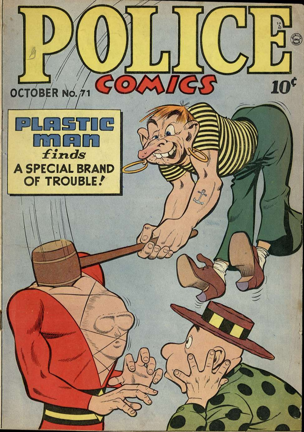 Comic Book Cover For Police Comics #71