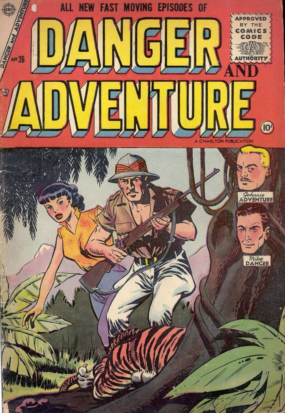 Comic Book Cover For Danger and Adventure #26