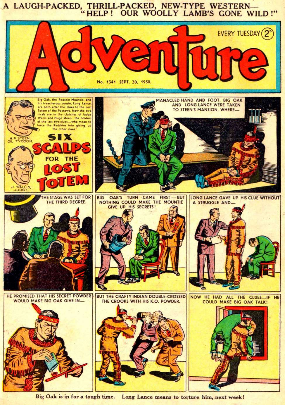 Comic Book Cover For Adventure #1341
