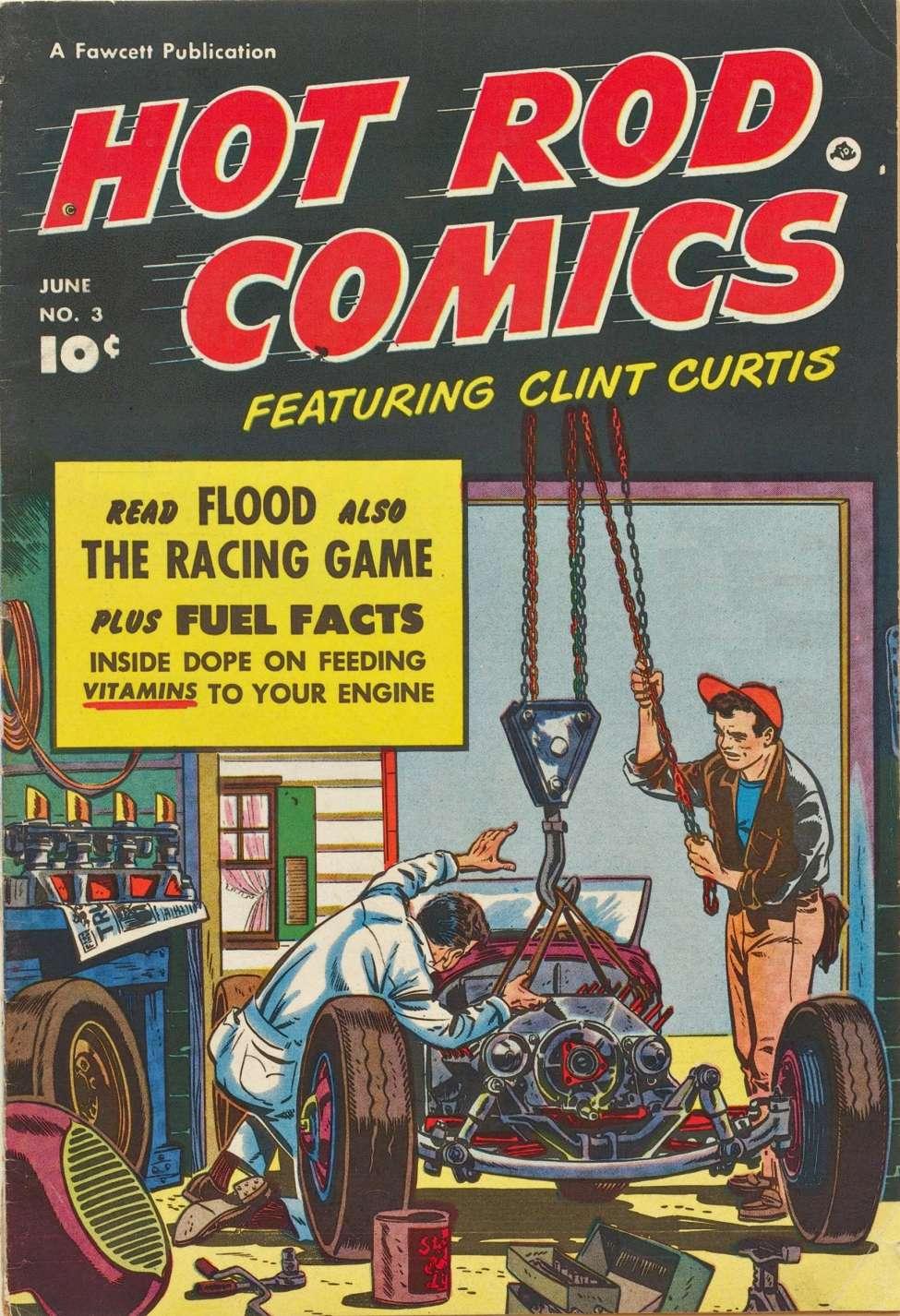 Comic Book Cover For Hot Rod Comics #3