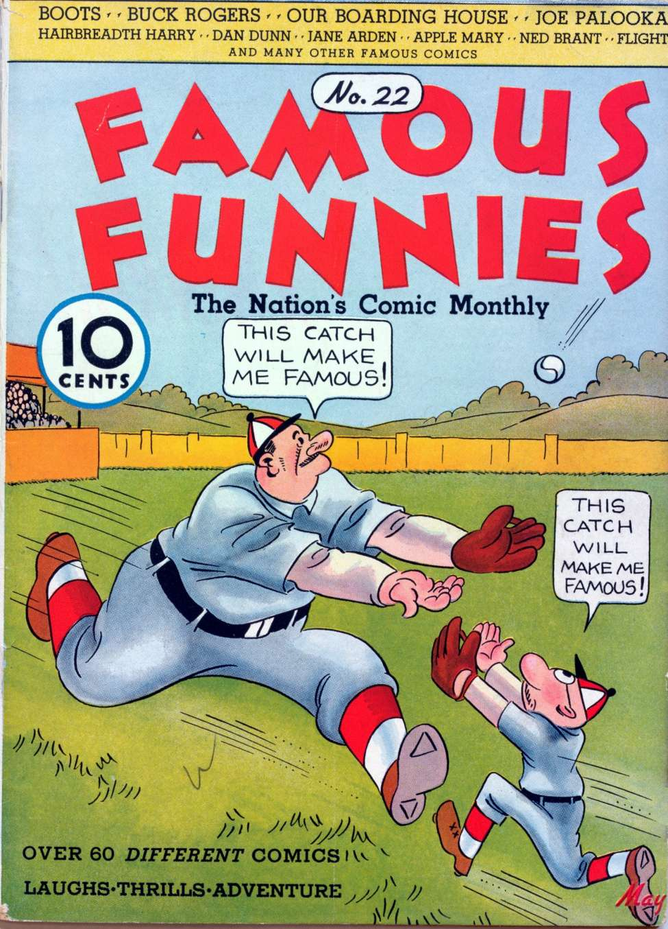Comic Book Cover For Famous Funnies #22
