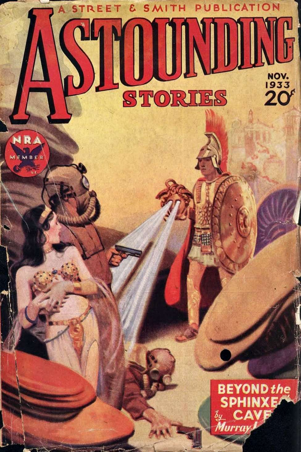Comic Book Cover For Astounding v12 03 - Beyond the Sphinxes' Cave - Murray Leinster