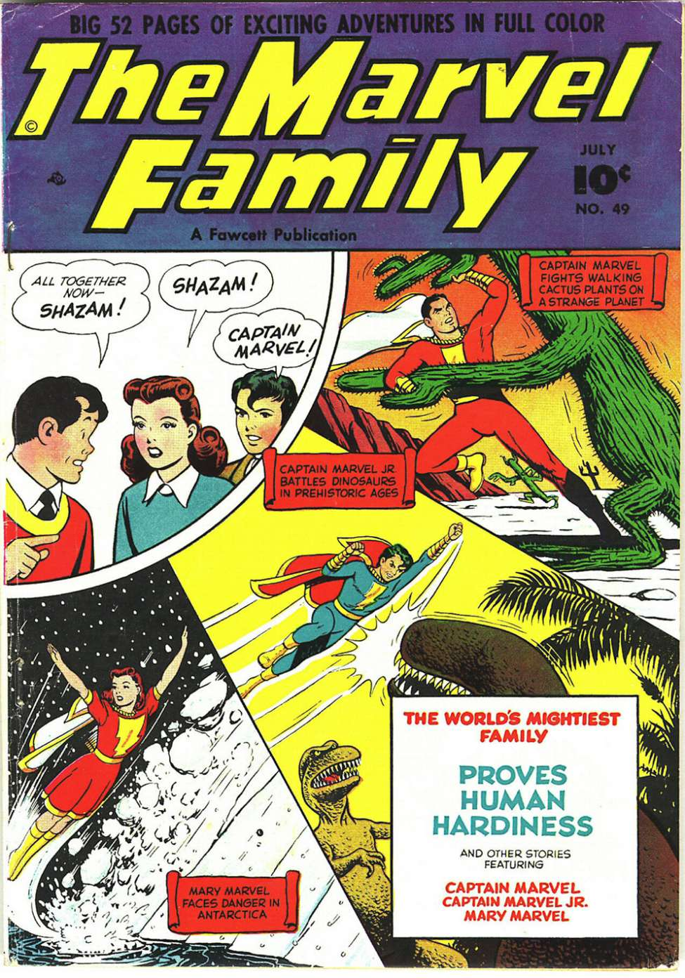 Comic Book Cover For The Marvel Family #49