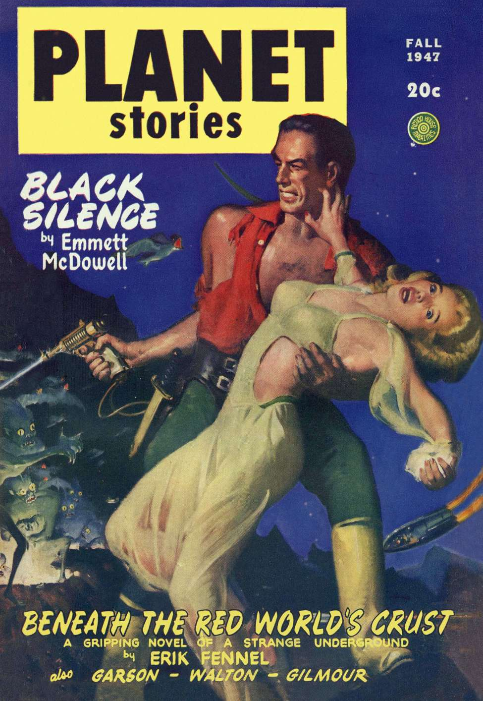 Comic Book Cover For Planet Stories v03 08 - Black Silence - Emmett McDowell