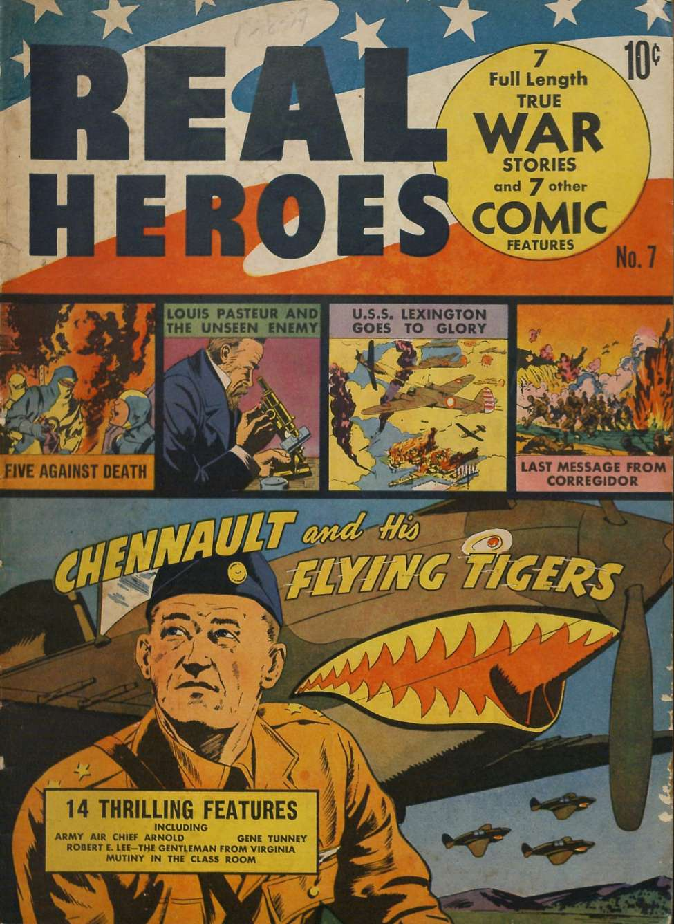 Comic Book Cover For Real Heroes #7