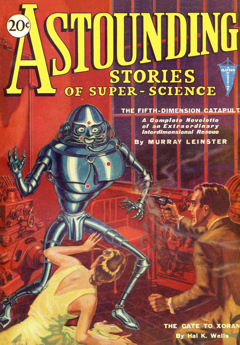 Comic Book Cover For Astounding v05 01 - The Fifth-Dimension Catapult - Murray Leinster
