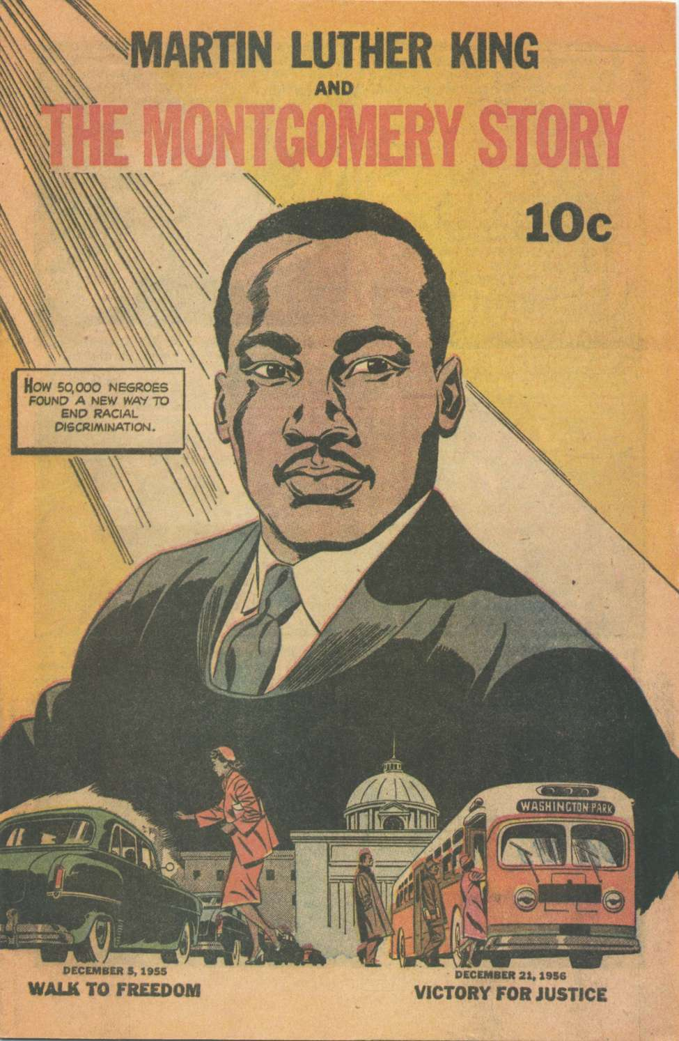 Comic Book Cover For Martin Luther King and the Montgomery Story [nn]