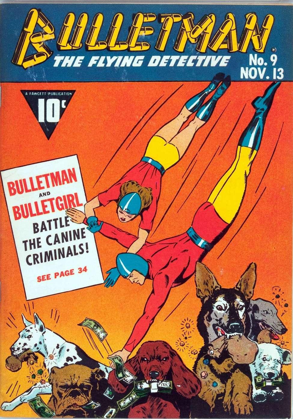 Comic Book Cover For Bulletman #9