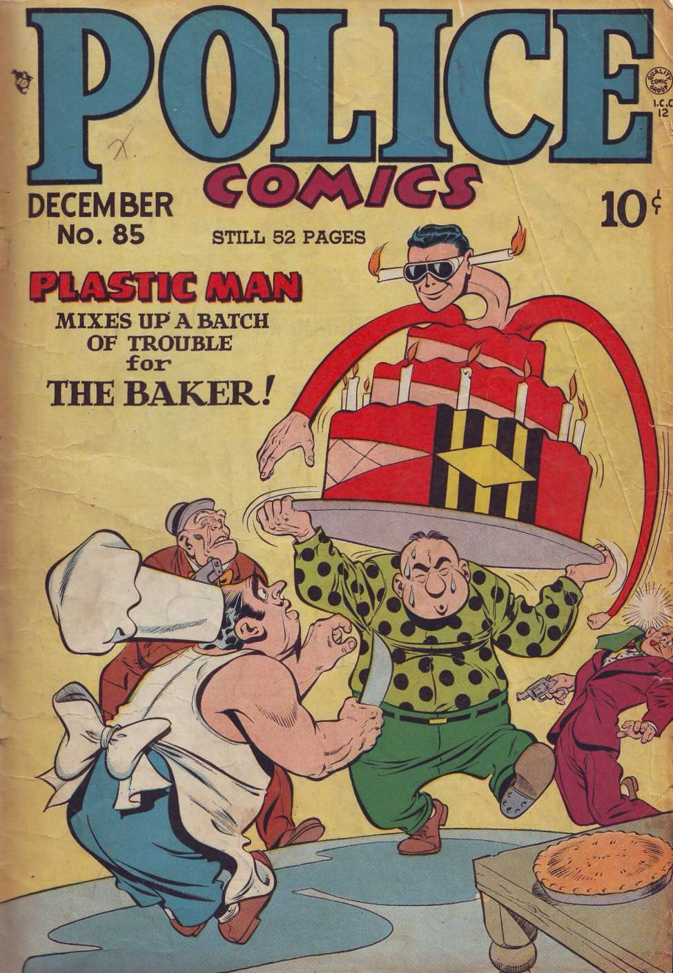 Comic Book Cover For Police Comics #85