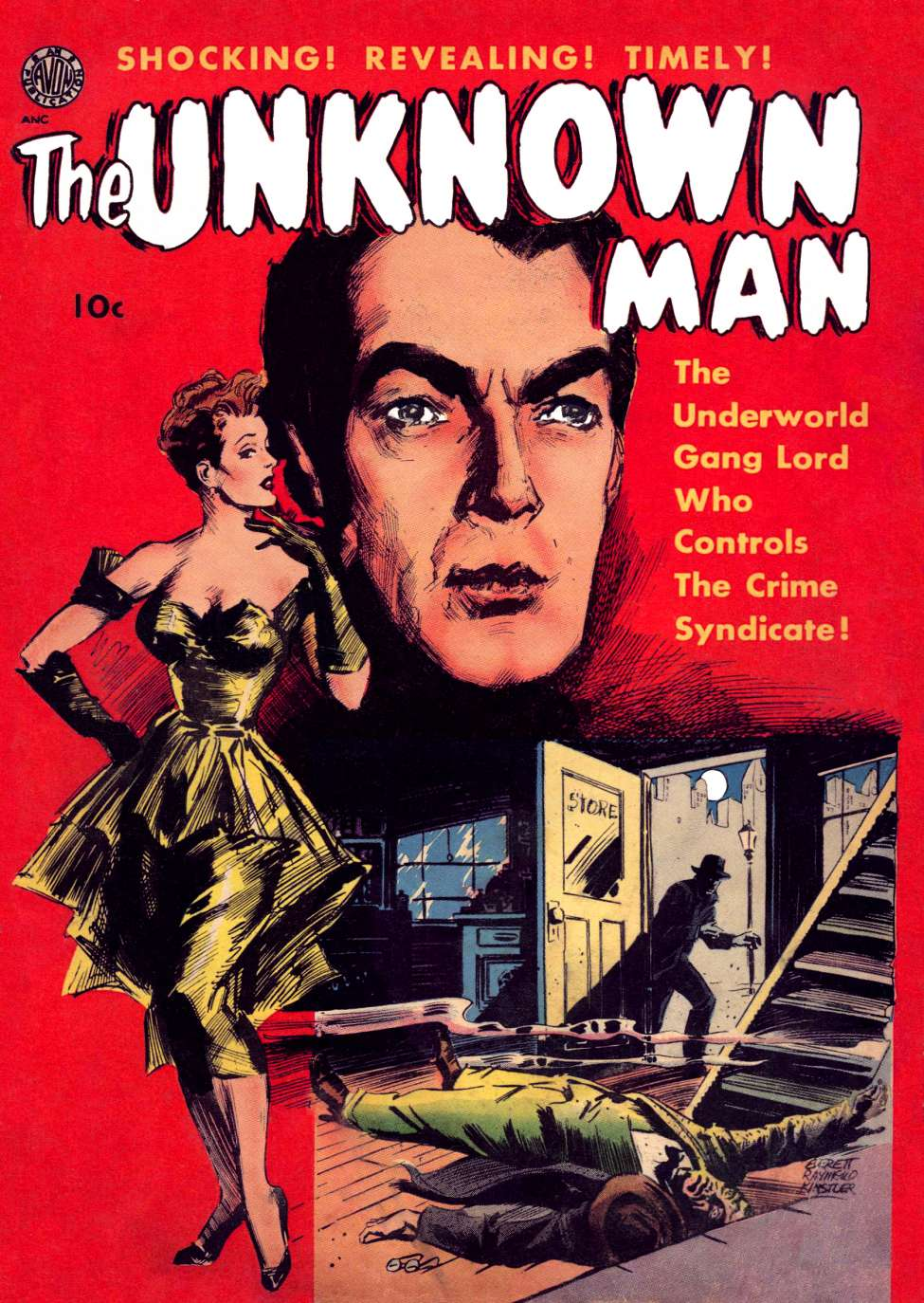 Comic Book Cover For The Unknown Man [nn]