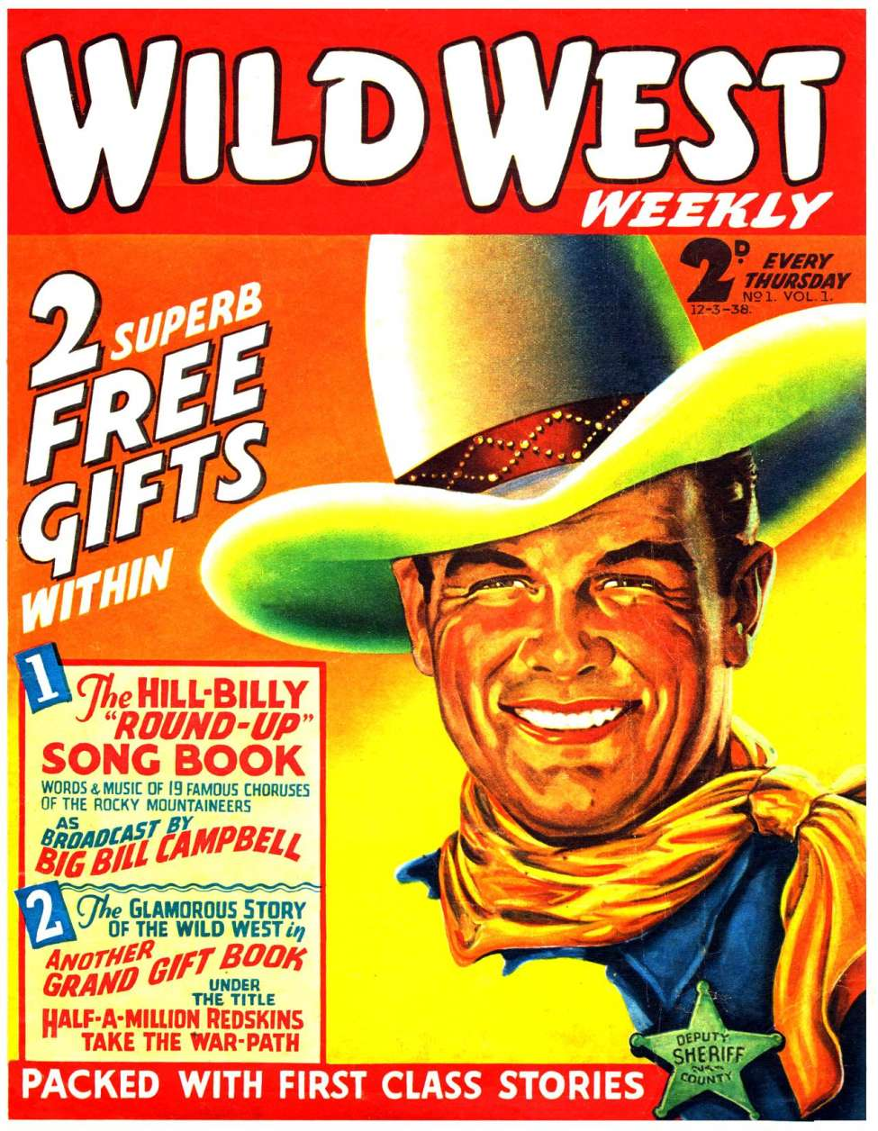 Comic Book Cover For Wild West Weekly 1