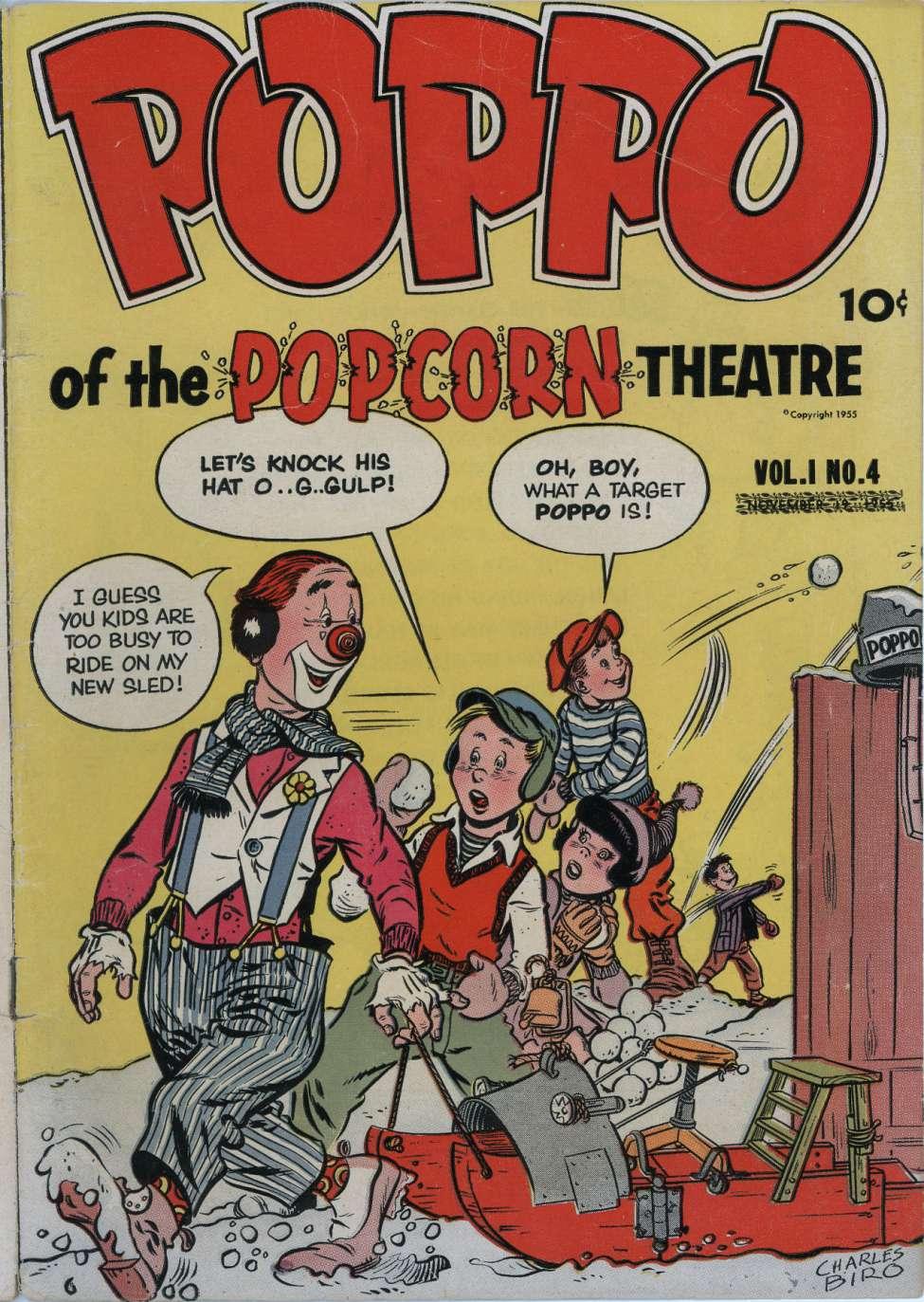 Comic Book Cover For Poppo of the Popcorn Theatre v1 #4