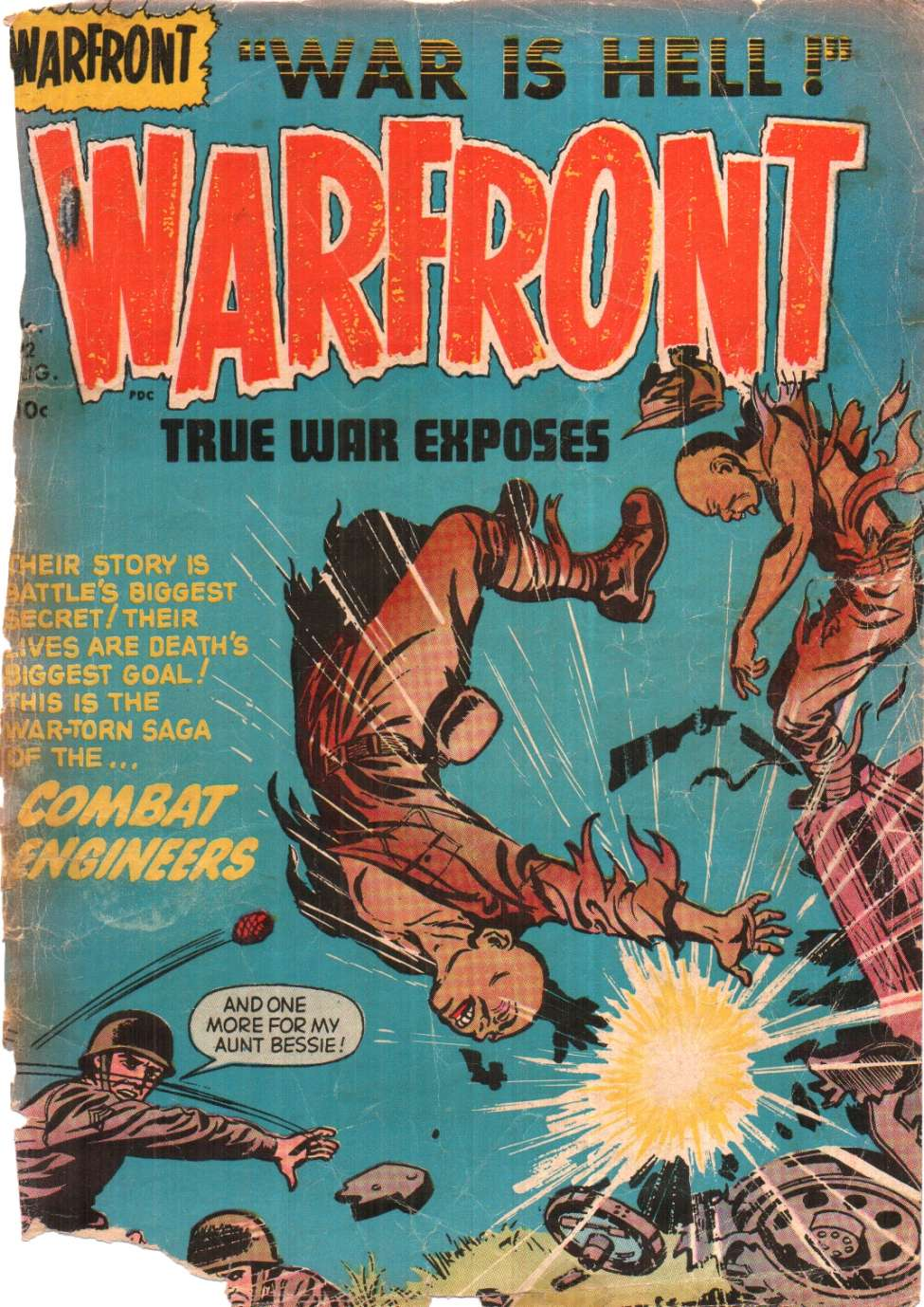 Comic Book Cover For Warfront #22