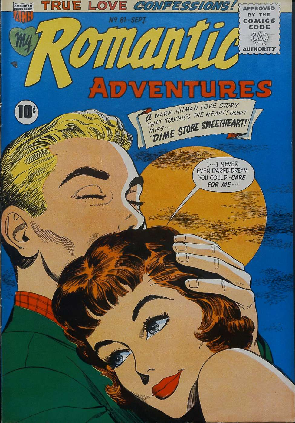 Comic Book Cover For My Romantic Adventures #81