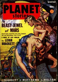 Large Thumbnail For Planet Stories v04 01 - The Beast-Jewel of Mars - Leigh Brackett