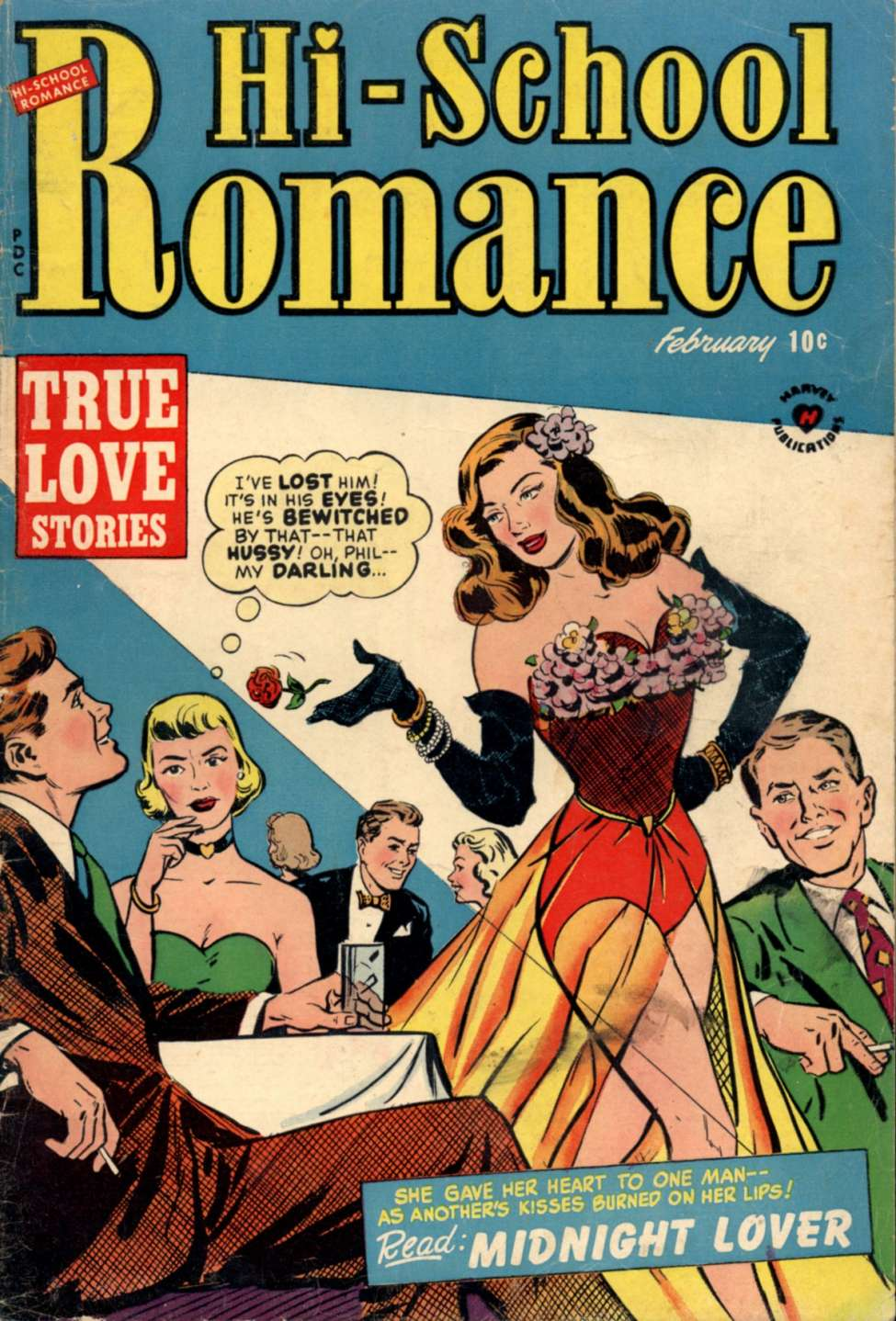 Comic Book Cover For Hi-School Romance #13