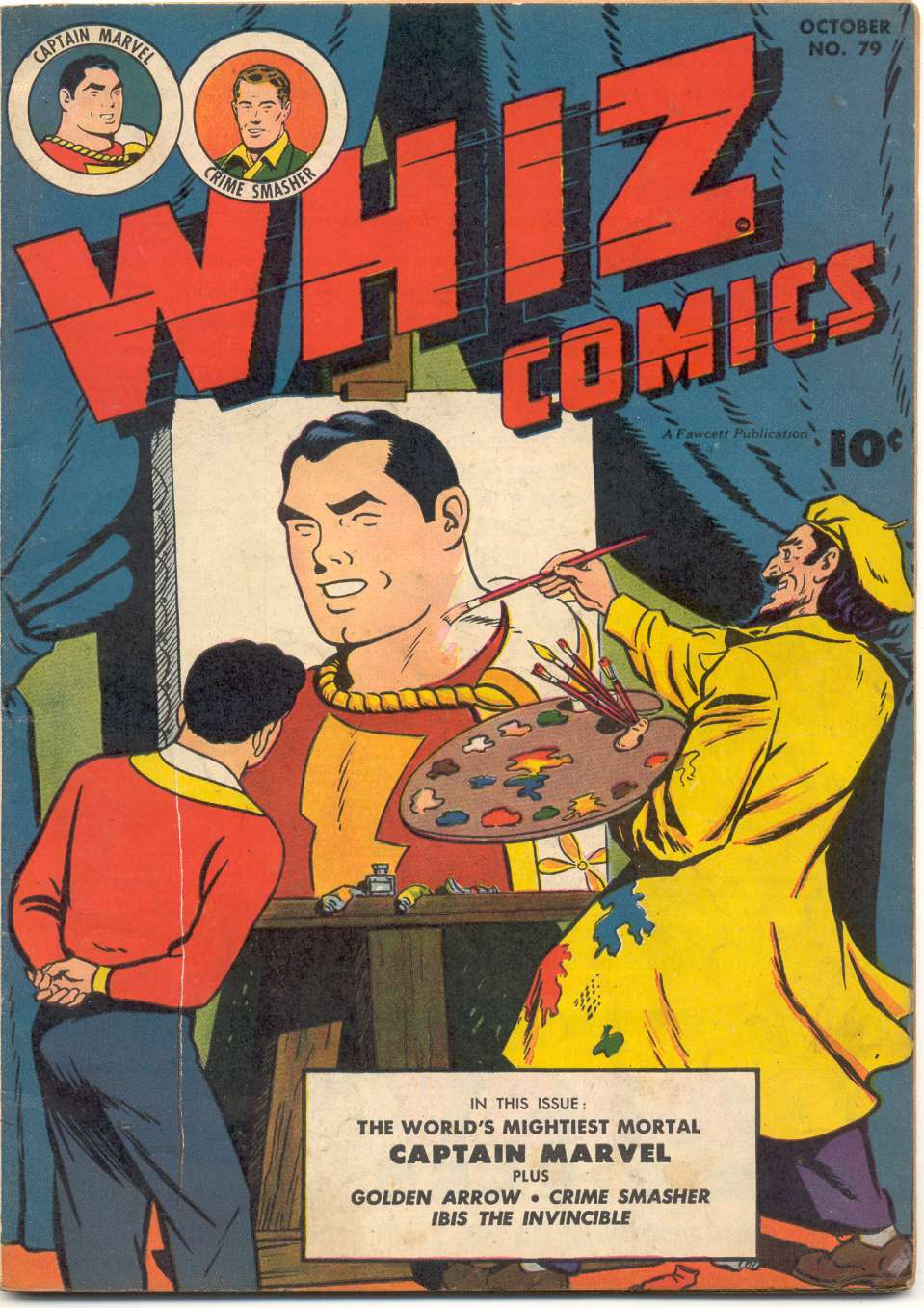 Comic Book Cover For Whiz Comics #79