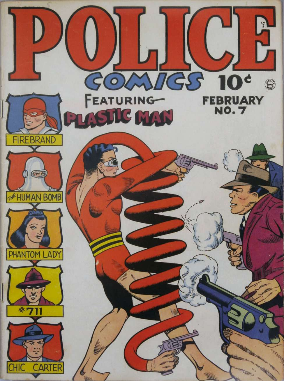 Comic Book Cover For Police Comics #7 - Version 2