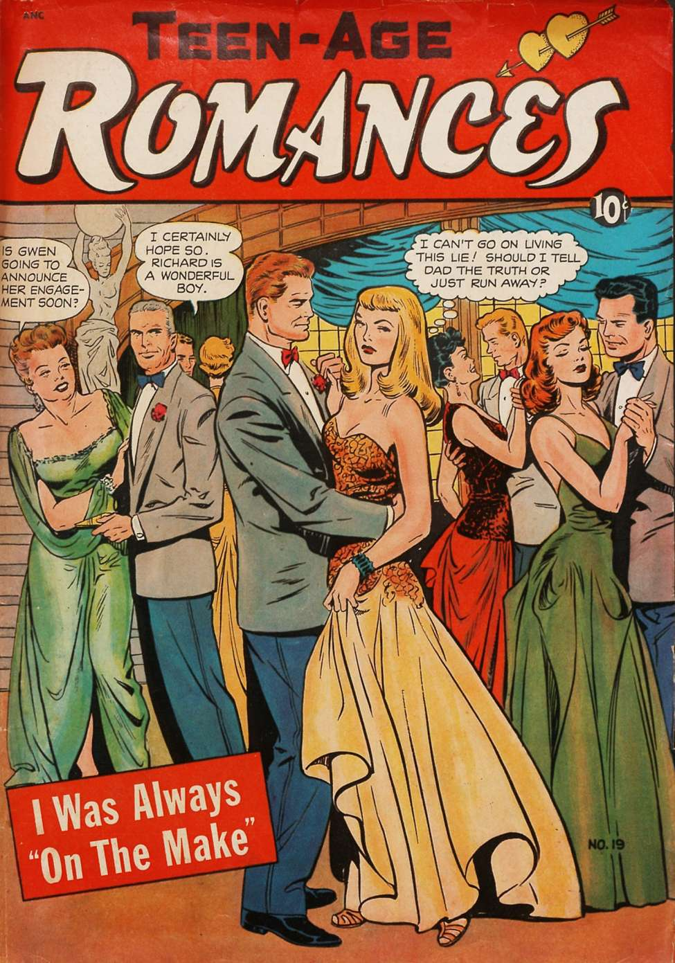 Comic Book Cover For Teen-Age Romances #19
