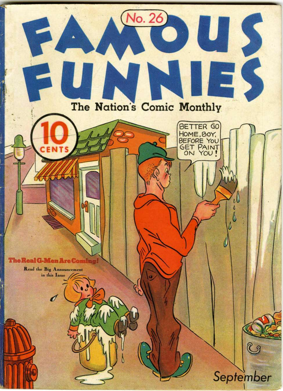 Comic Book Cover For Famous Funnies #26