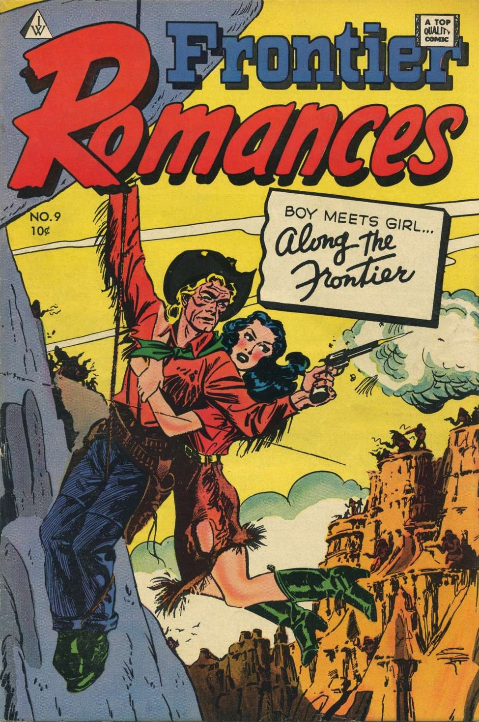 Comic Book Cover For Frontier Romances #9