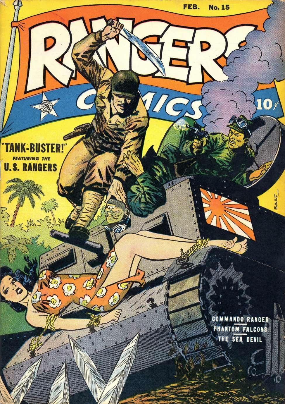 Comic Book Cover For Rangers Comics #15