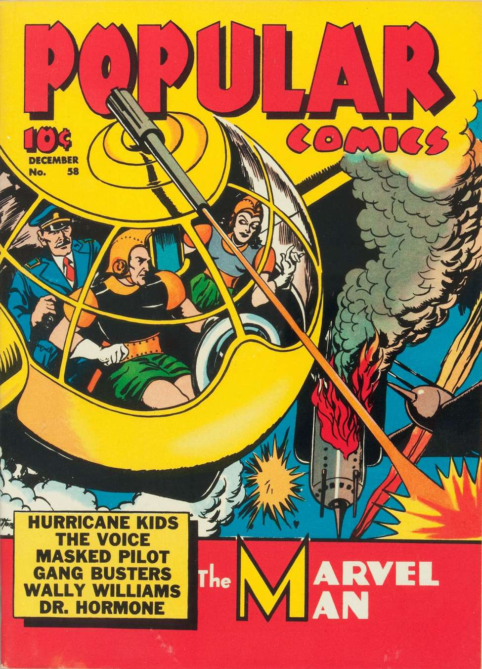 Comic Book Cover For Popular Comics #58
