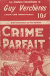 Cover For Guy Verchères 4 Crime Parfait