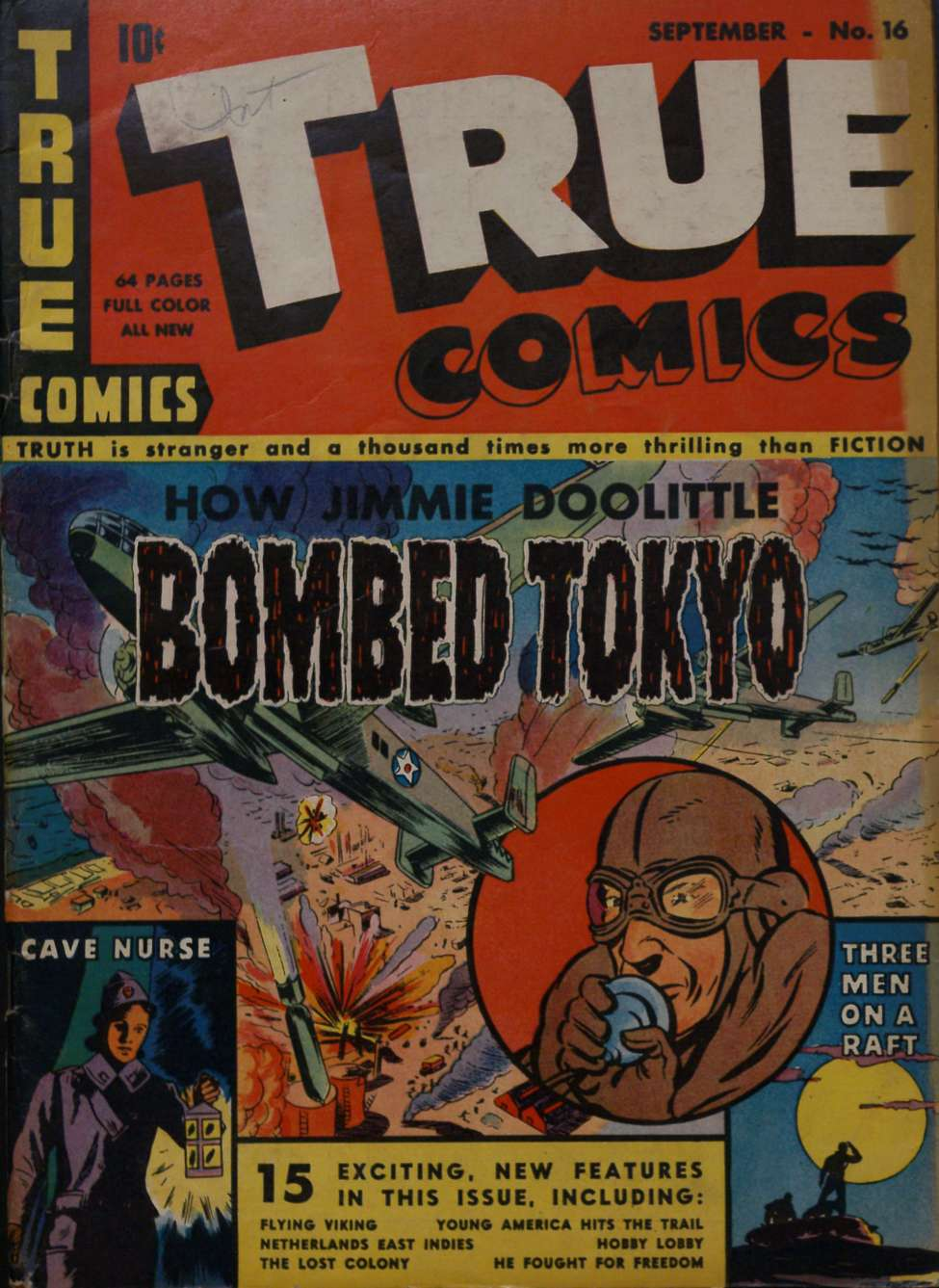 Comic Book Cover For True Comics #16