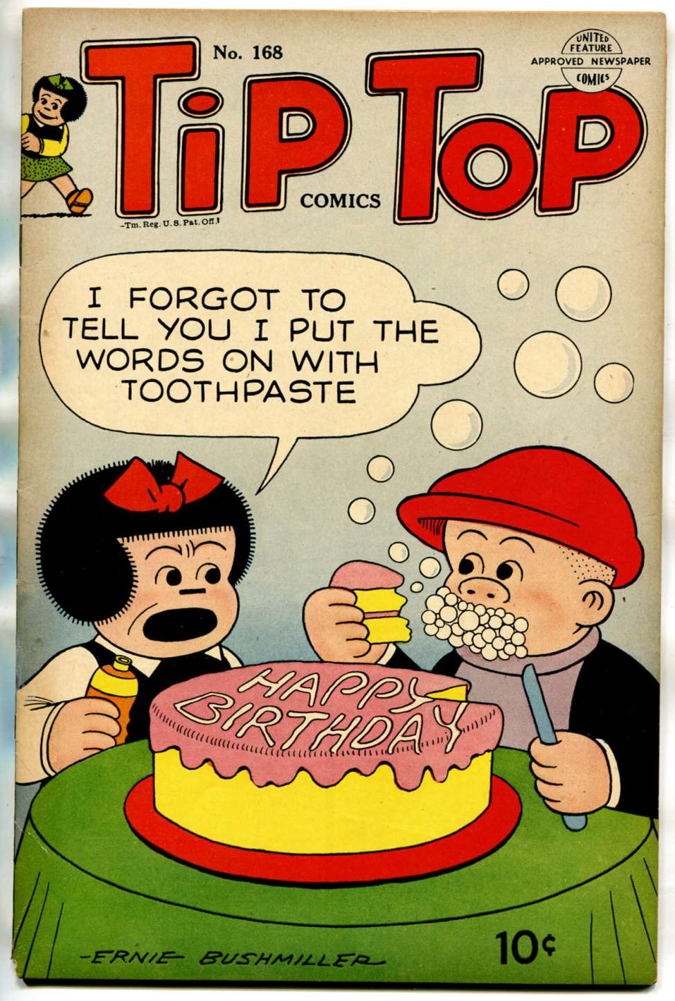 Comic Book Cover For Tip Top Comics 168