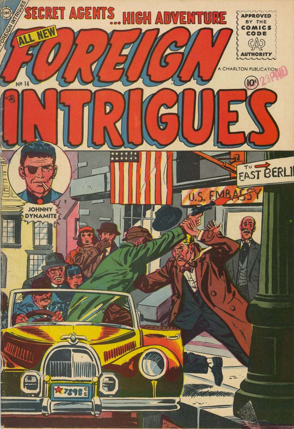 Comic Book Cover For Foreign Intrigues #14