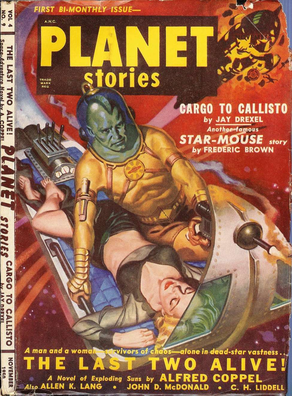 Comic Book Cover For Planet Stories v04 09 - The Last Two Alive! - Alfred Coppel, Jr.
