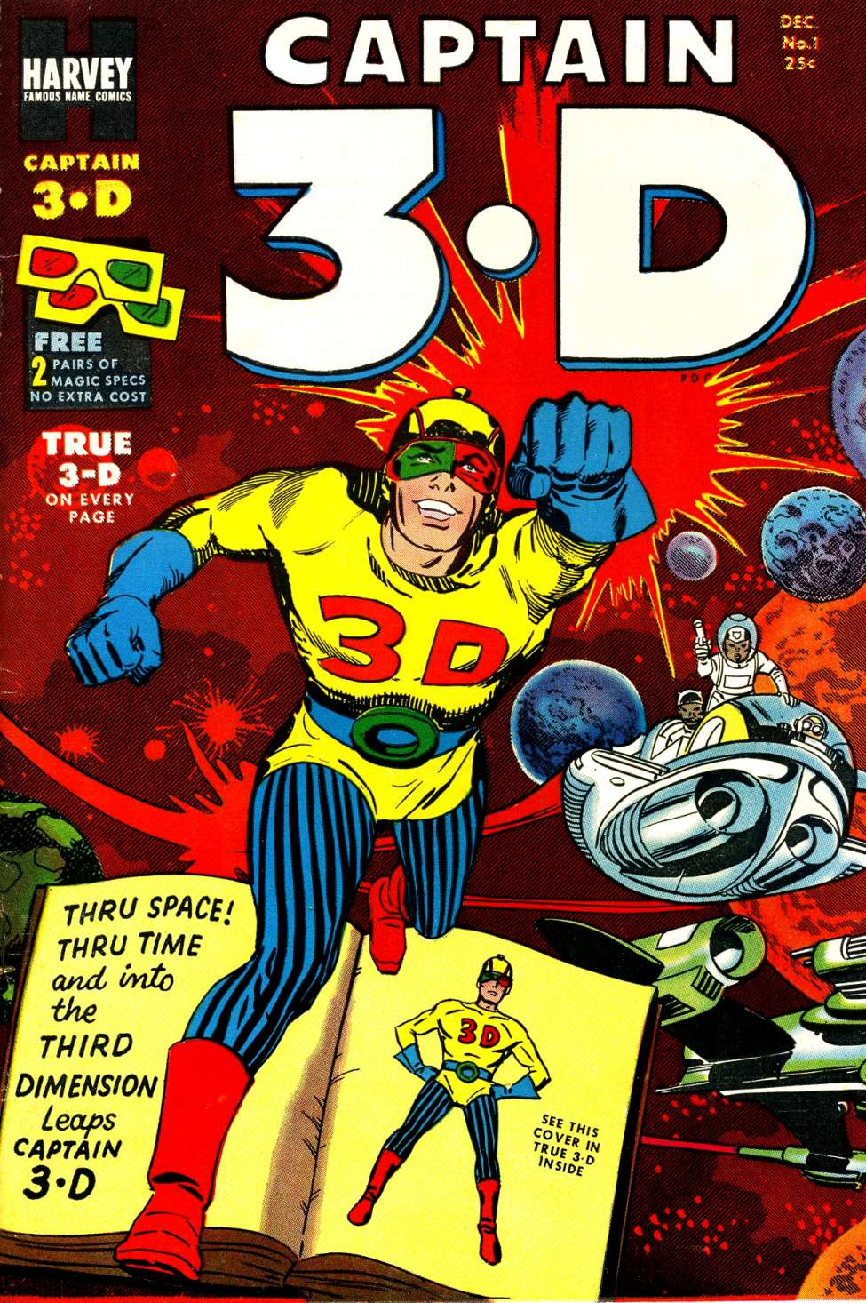 Comic Book Cover For Captain 3-D #1 - Version 3
