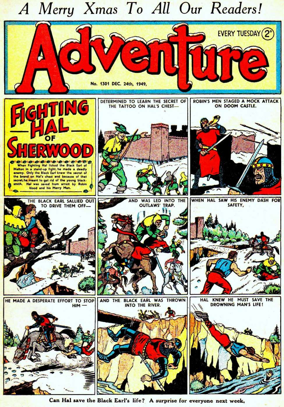 Comic Book Cover For Adventure #1301