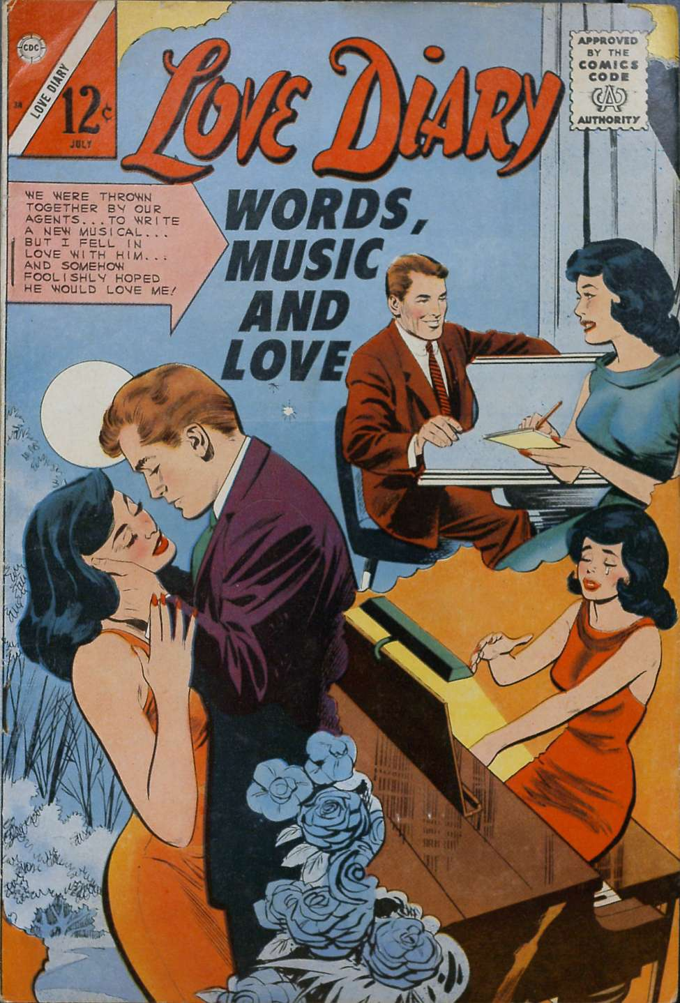 Comic Book Cover For Love Diary #38