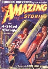 Large Thumbnail For Amazing Stories v13 11 - The 4-Sided Triangle - William F. Temple