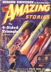 Cover For Amazing Stories v13 11 The 4 Sided Triangle William F. Temple