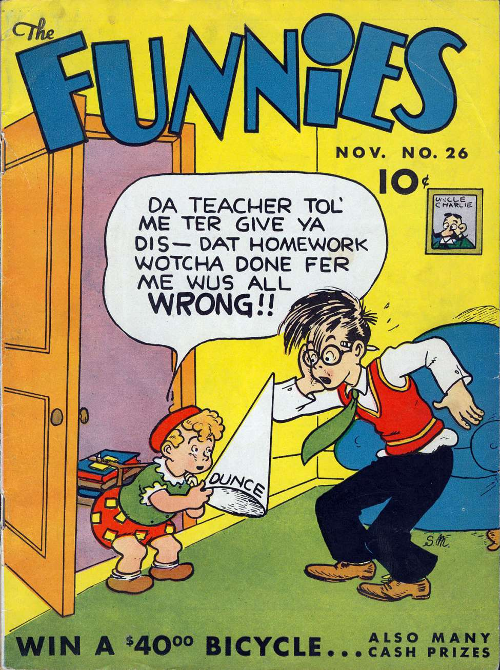 Comic Book Cover For The Funnies #26