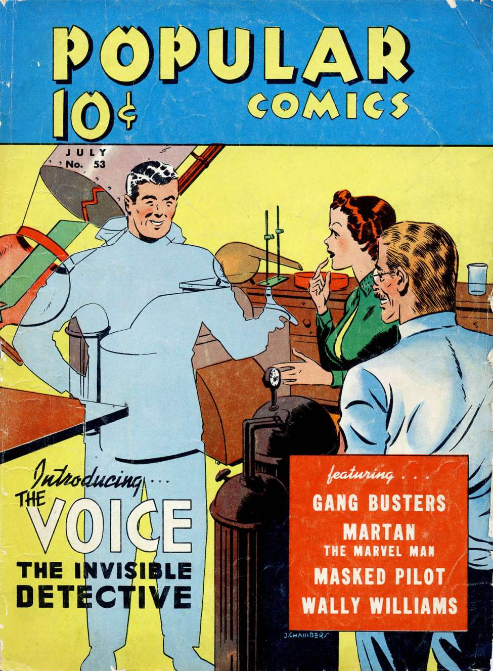 Comic Book Cover For Popular Comics #53