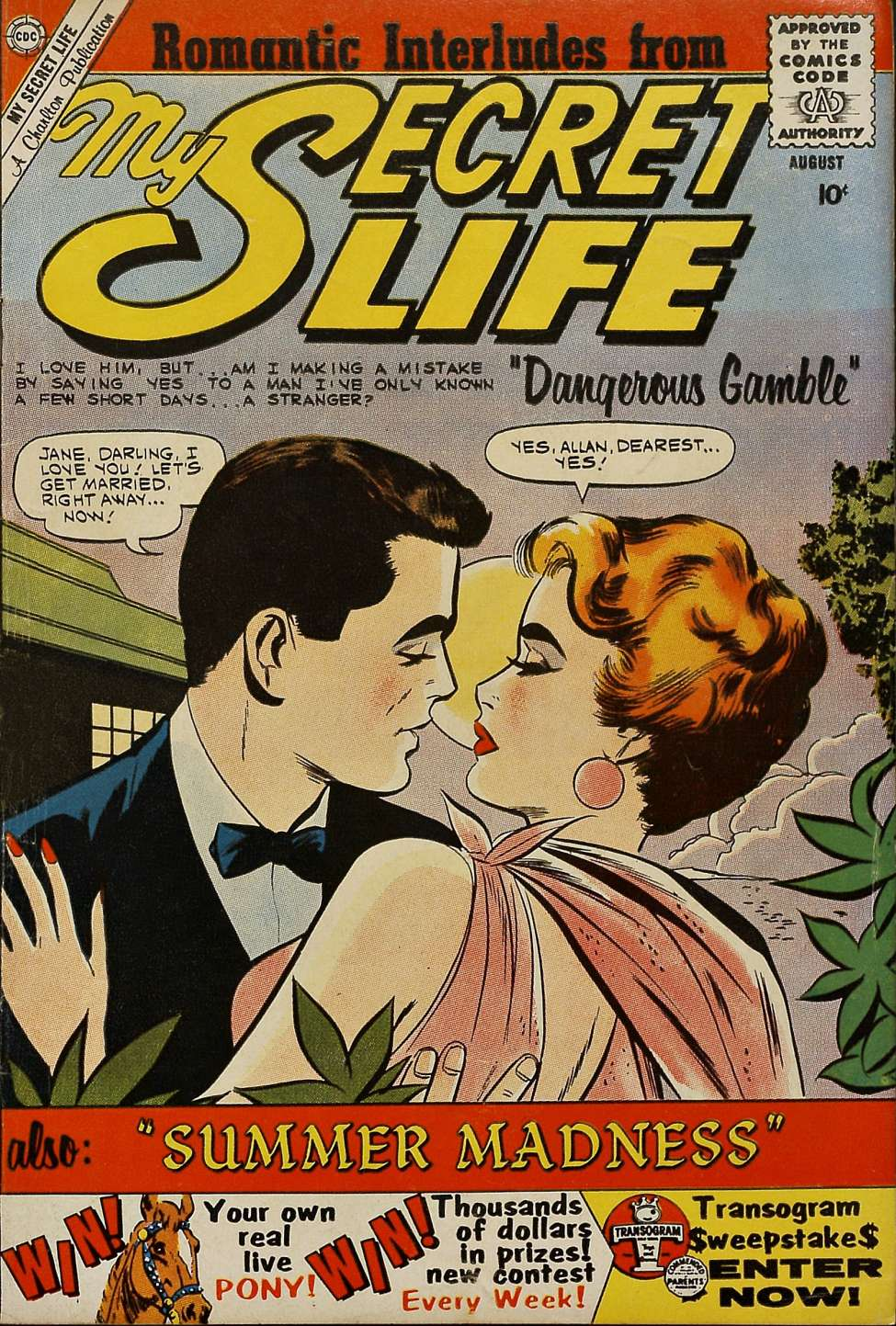 Comic Book Cover For My Secret Life #35