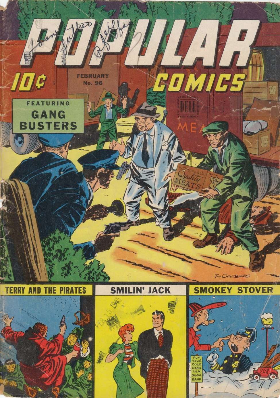 Comic Book Cover For Popular Comics #96