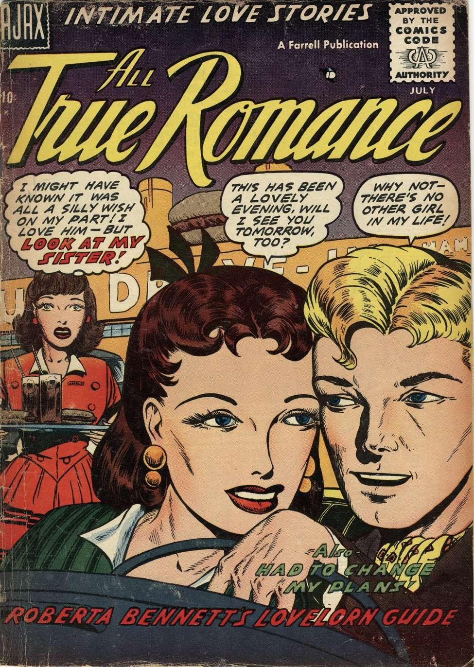 Comic Book Cover For All True Romance #30
