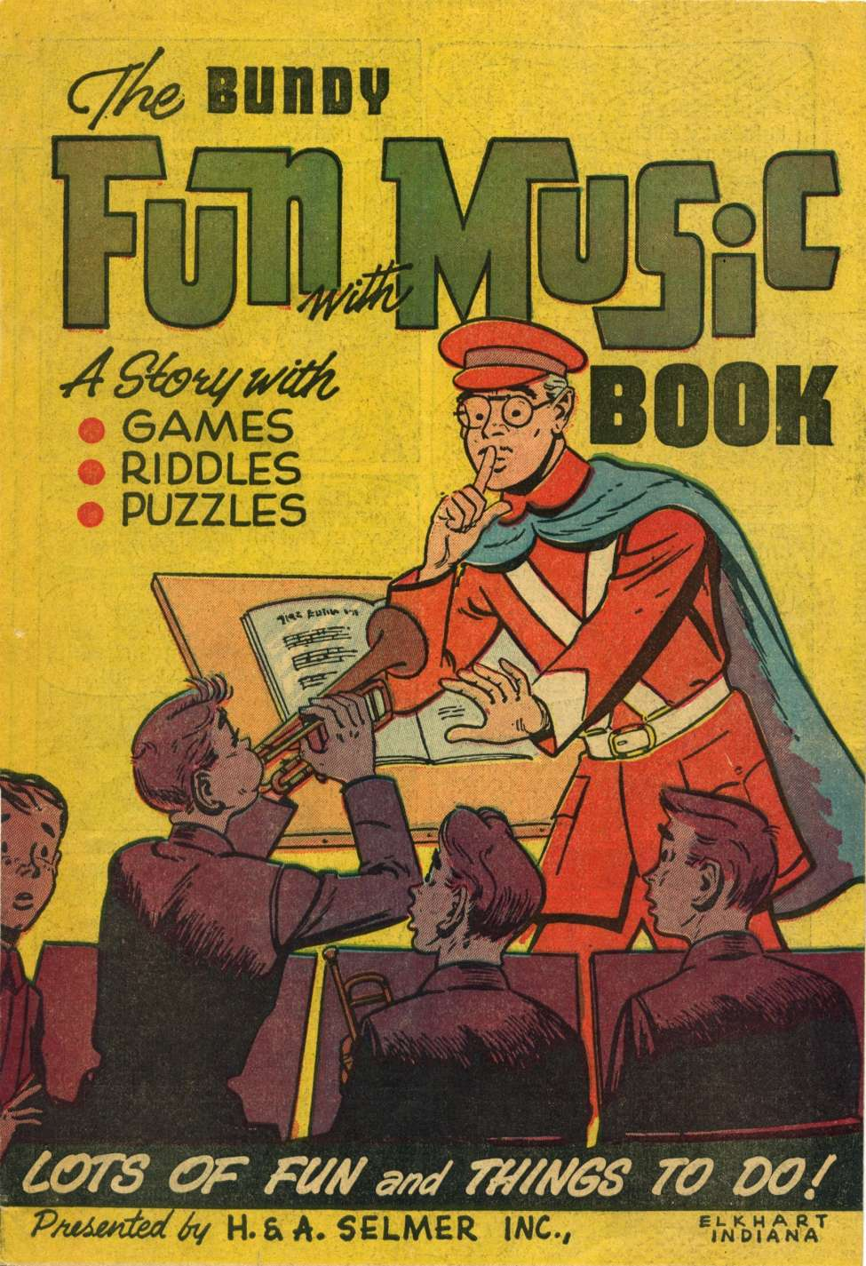 Comic Book Cover For The Bundy Fun with Music Book