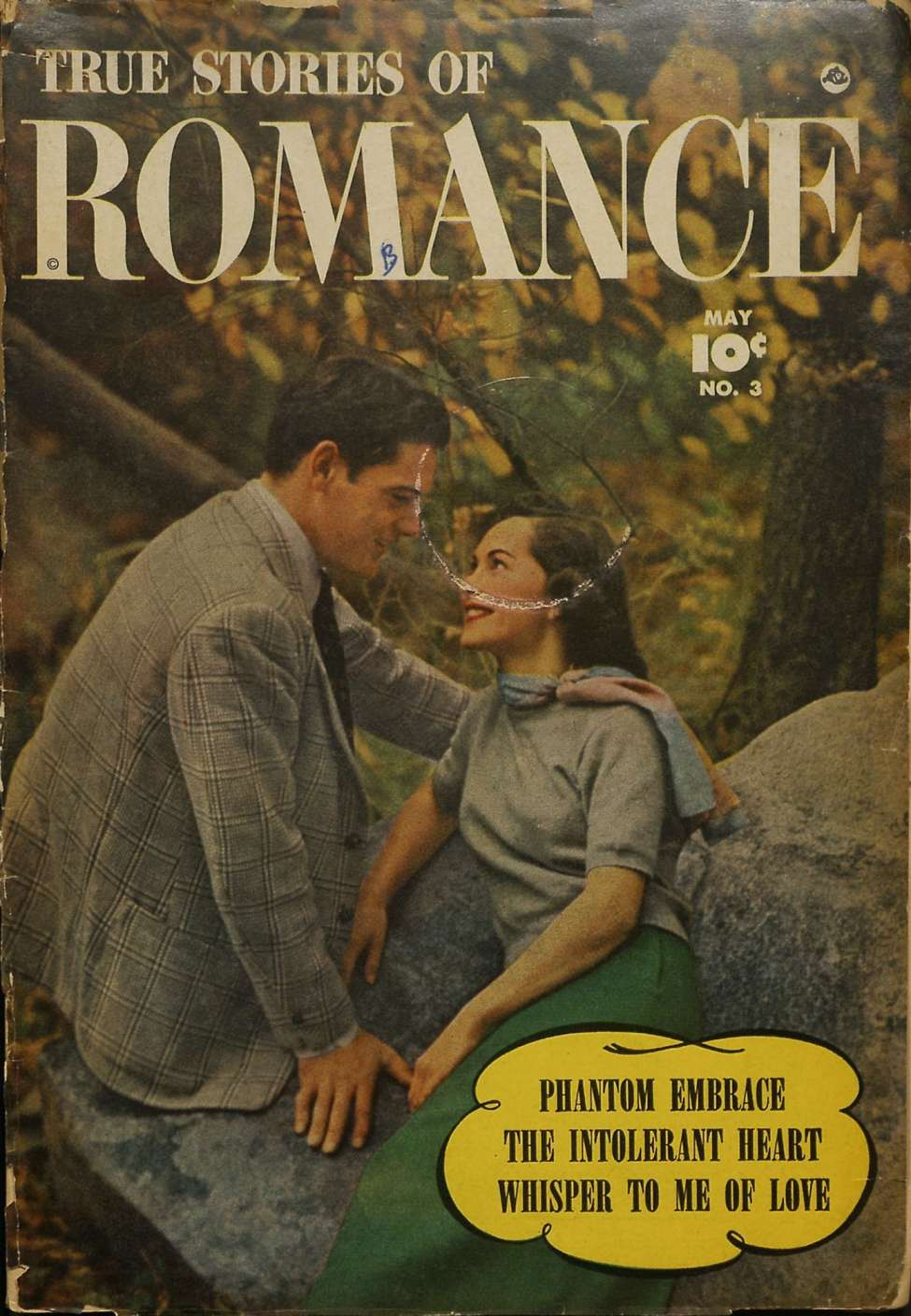 Comic Book Cover For True Stories of Romance 3