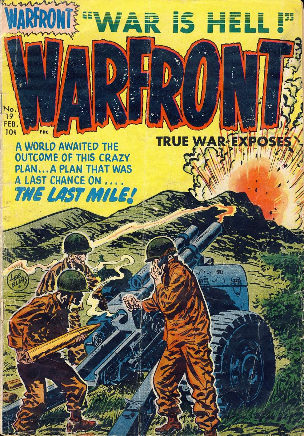 Comic Book Cover For Warfront #19